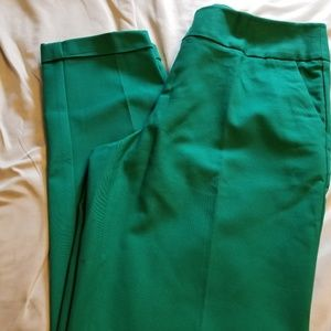 Emerald green ankle pants